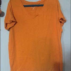 Lane Bryant Cotton Pumpkin Color Top 18/20